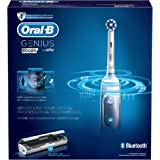 Oral-B Genius 9000 - Cepillo de dientes eléctrico, SmartRing, 6 modos, Bluetooth, 4 cabezales, estuche con USB, color blanco