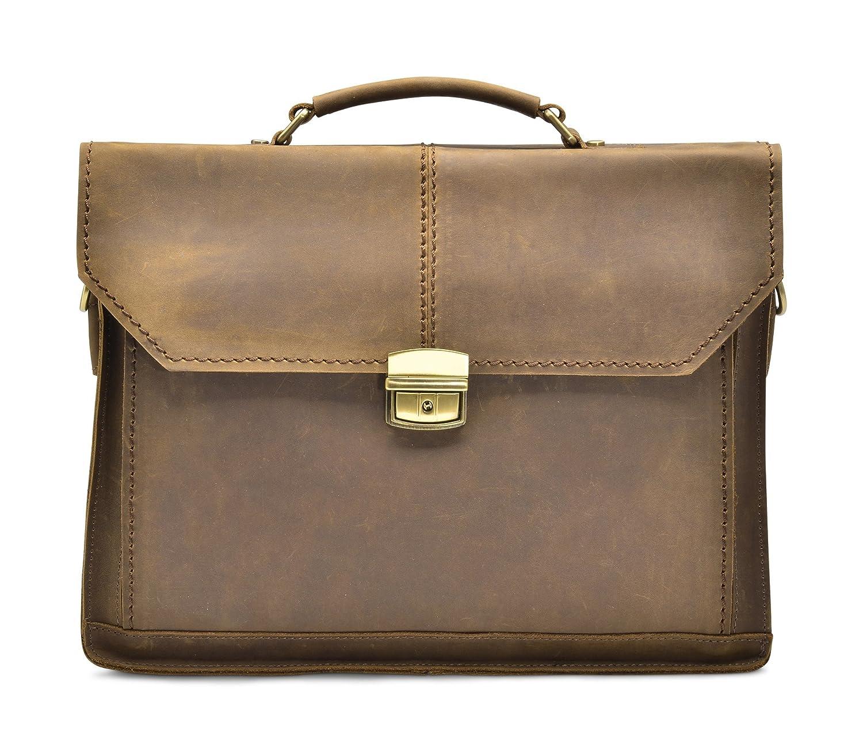 """Hølssen Satchel Briefcase Messenger 13"""" Laptop Genuine Leather Bag 50%OFF"""