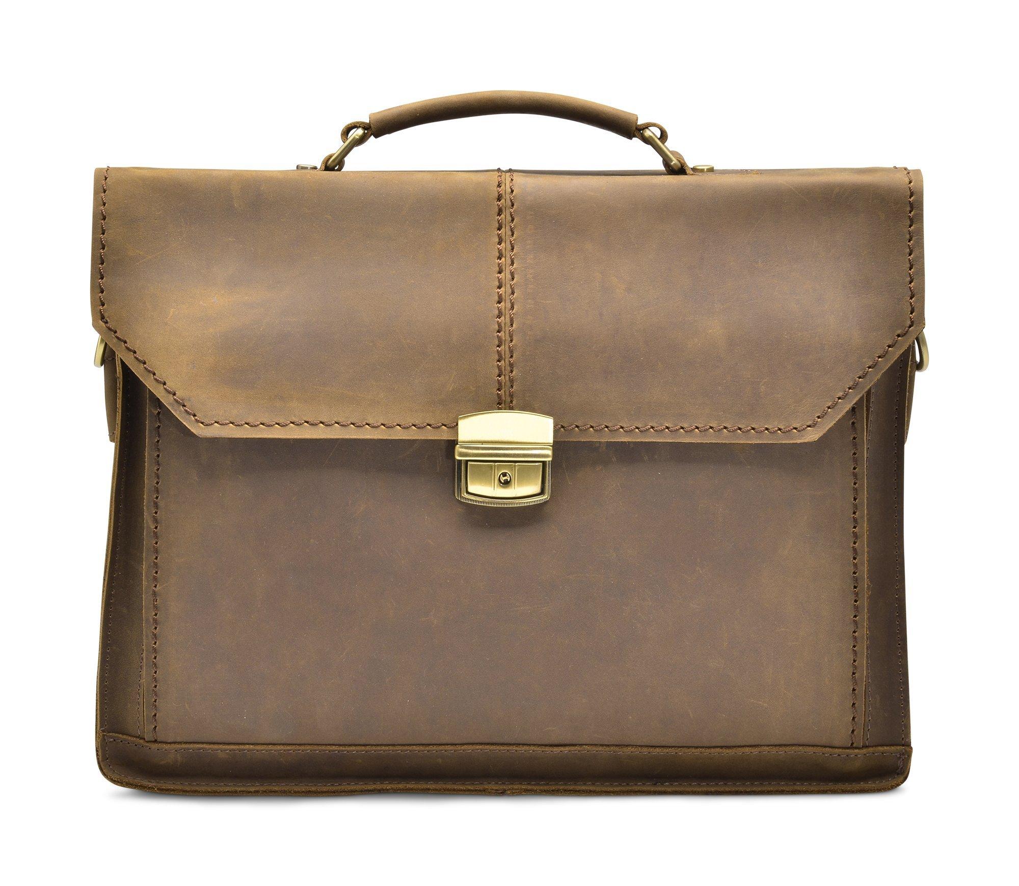 Hølssen Satchel Briefcase Messenger 13'' Laptop Genuine Leather Bag by Hølssen