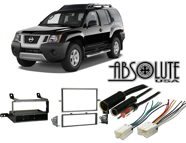 Amazon.com: Absolute RADIOKITPKG11 Fits Nissan Xterra 2005-2008 Multi DIN  Stereo Harness Radio Install Dash Kit: Sports & Outdoors