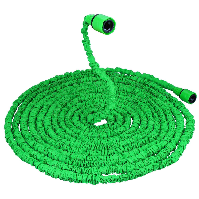 VEGKEY Flexibler Gartenschlauch,75FT 22.5m Flexibler Wasserschlauch Gartenschlauch Flexibler Gartenschlauch Dehnbar mit 8 Funktionen-Duschd/üse f/ür Gartenbew/ässerung Reinigung und Autow/äsch