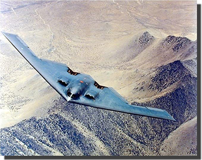 Delta Wing Aircraft Stealth Bomber Plan Canvas Print Painting Hom Decor Wall Art