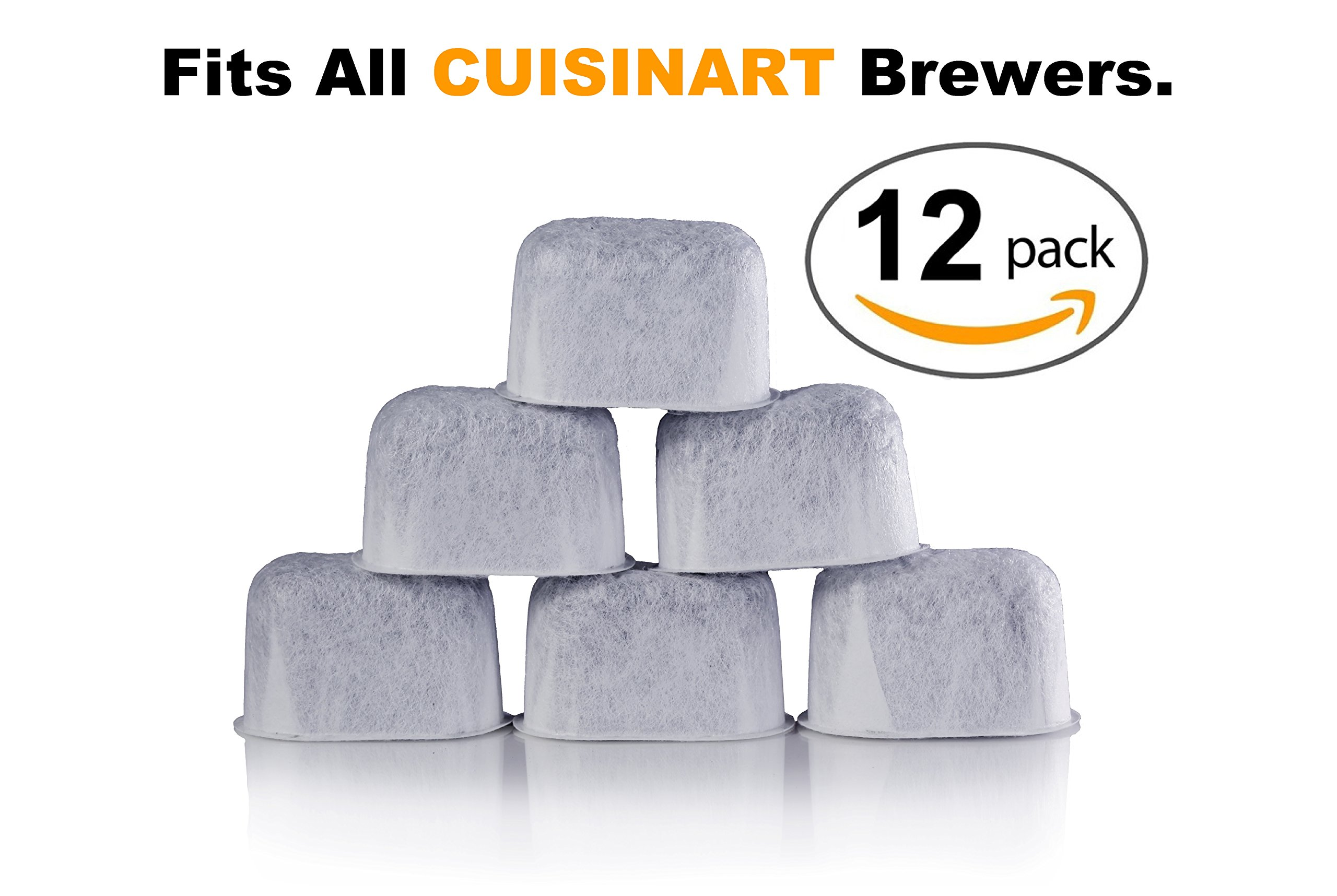 12 Pack Of Cuisinart Compatible Replacement Ku0026J Charcoal Water Filters For  Coffee Makers   Fits All Cuisinart Coffee Makers