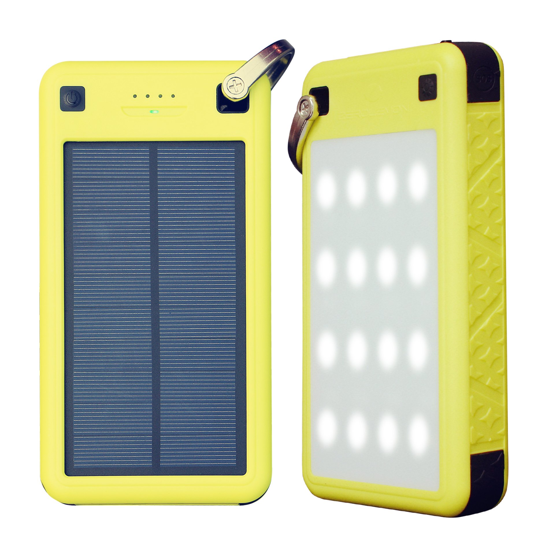 Solar Charger, ZeroLemon 26800mAh SolarJuice USB-C/QC3.0 Portable Solar Battery Charger with Waterproof/ Shockproof Solar Power Charger for iPhone, Samsung, Android phones, Windows phones and More by ZEROLEMON