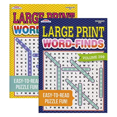 Kappa Large Print Word Finds, Large Print Easy to Read, Word Search Find Words Books for Adults Teens, Training Learning with Game (Case of 48) : Office Products