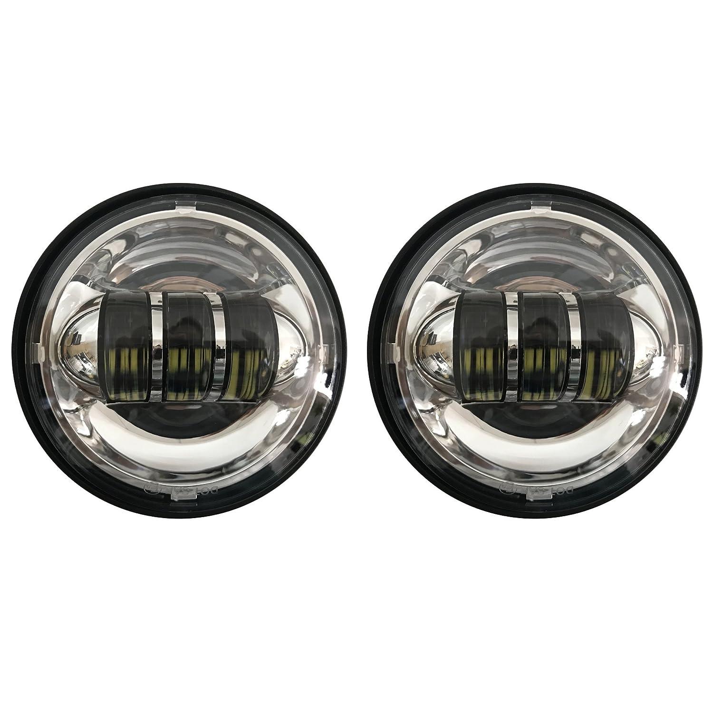 "4 1//2/"" 4.5 inch LED Auxiliary Fog Light Burst Cover Black For Harley Davidson"