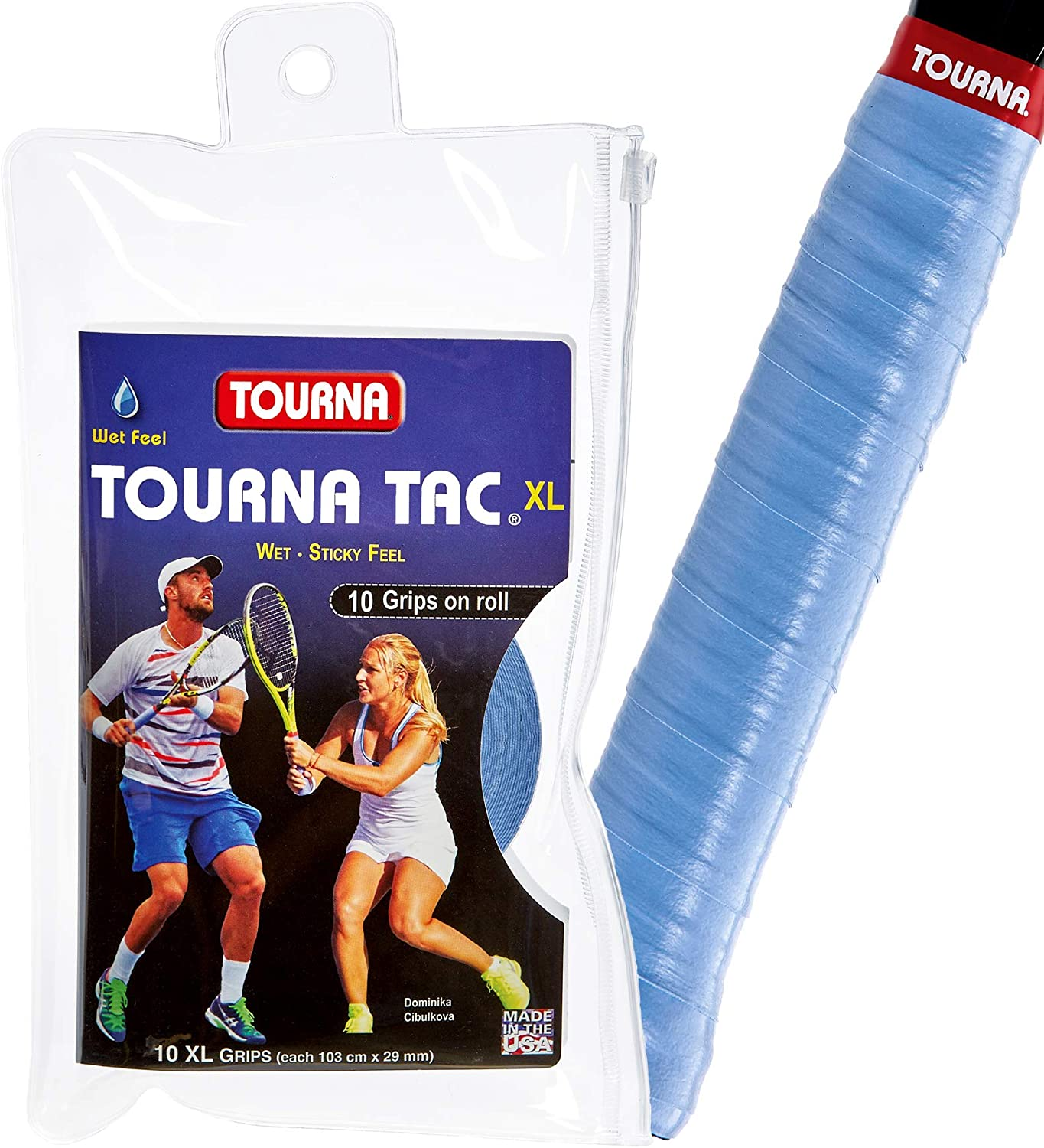 Tourna Tac Tennis Racquet Over Grip 10 XL Durable Overgrips Absorbent Tacky Feel