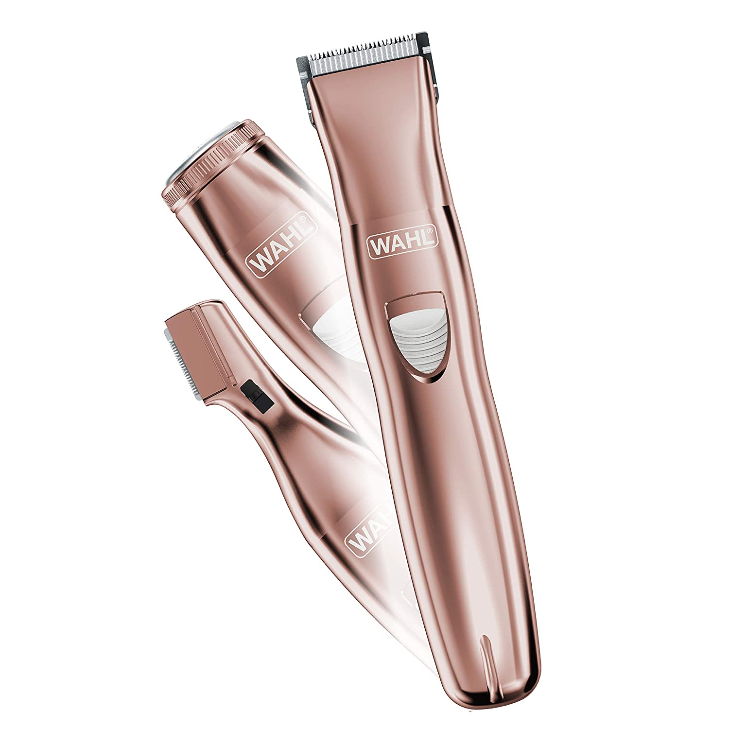 Wahl Pure Confidence Rechargeable Electric Razor, Trimmer, Shaver, & Groomer for Women with 3 Interchangeable Heads