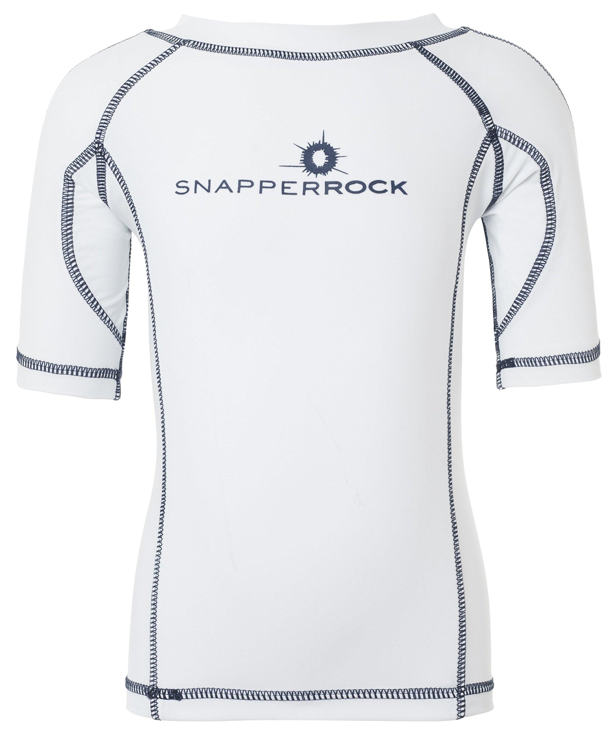 Snapper Rock Big Boys' Solid Rash Top, White, 12