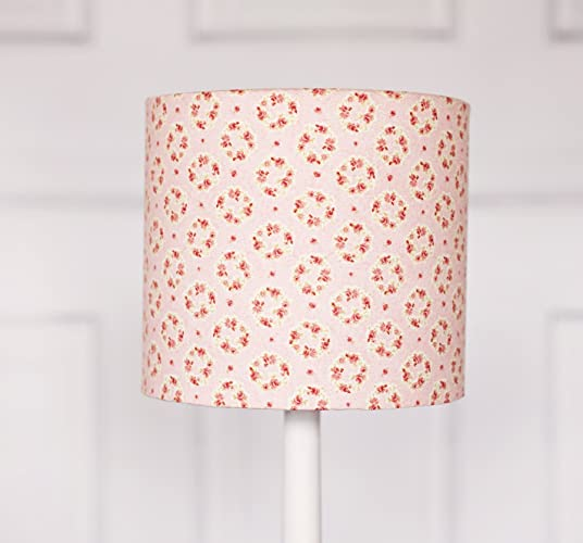Amazon pink floral lampshade handmade pink floral lampshade aloadofball Image collections