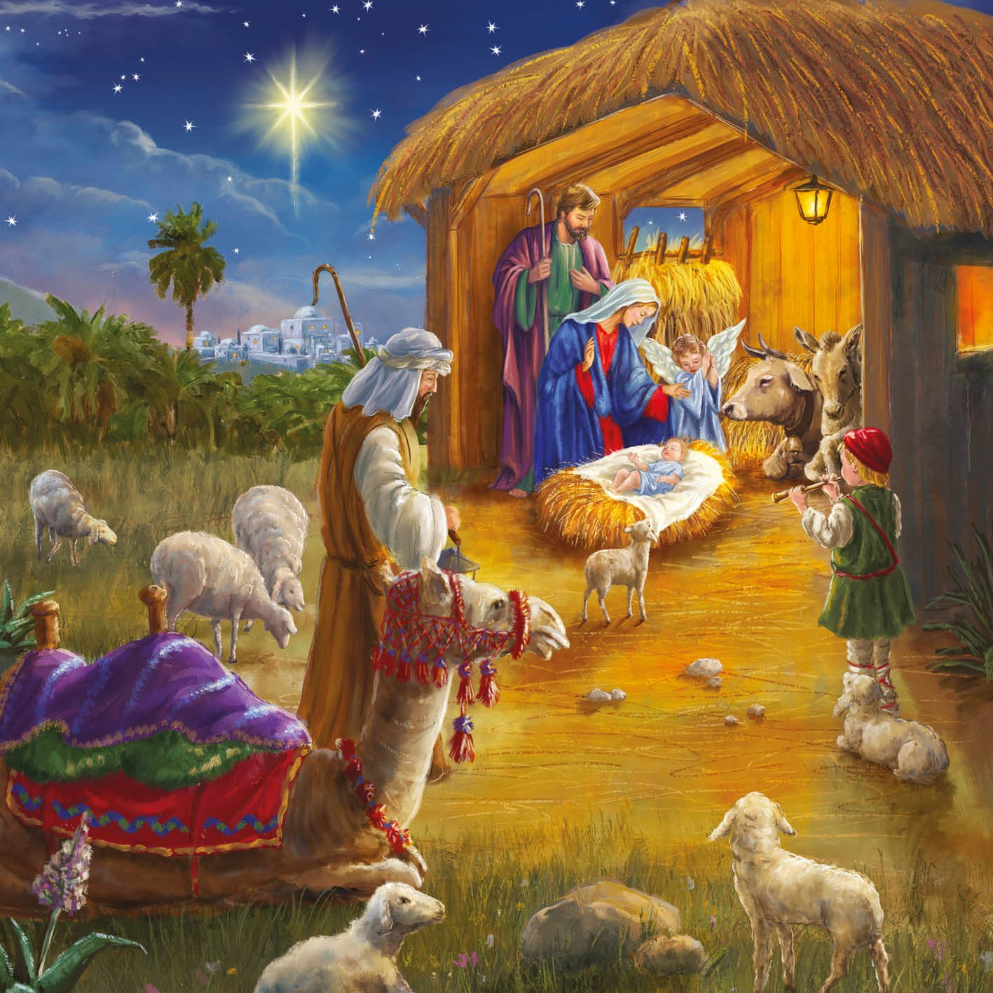 Nativity Scene - Alzheimer's Society Charity Christmas Card Pack The Greetings Card Company