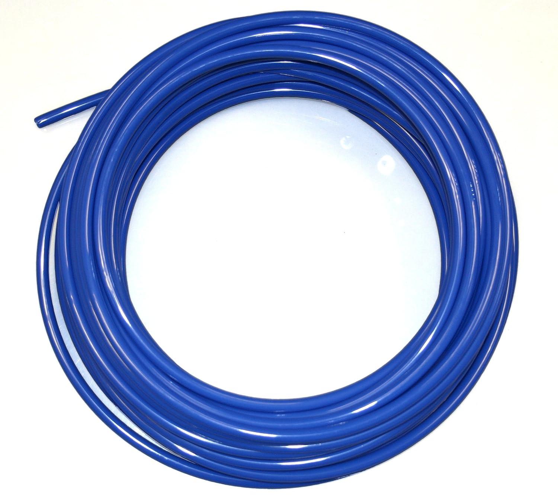 12mm x 10mm metric Blue Nylon flexible pneumatic tube/hose - for air line, oil, fuel - 5m length Camthorne