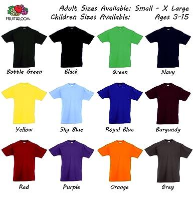 94efde767a0 Mens Boys Girls Cotton Plain T-Shirt Size S M L XL XXL 3XL 4XL 5XL Age 3-15  Years Fruit of the Loom  Amazon.co.uk  Clothing