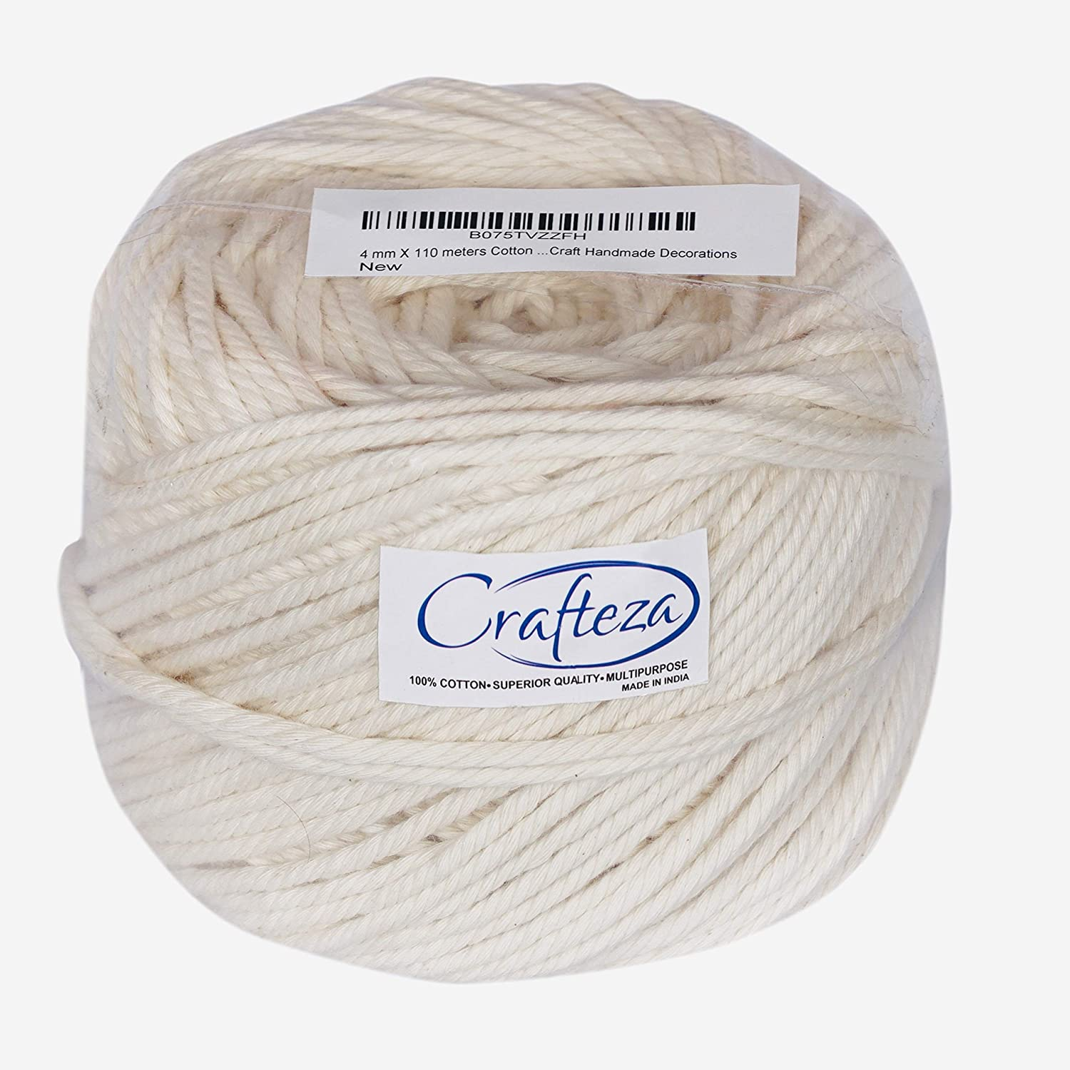Macrame Cord 4mm X 110m(about 120 yd) Natural Virgin Cotton Handmade  Decorations Macrame Wall Hangings Plant Hanger Crocheting Bohemia Dream  Catcher
