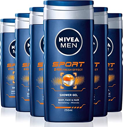 Nivea men - Sport, gel de ducha, pack de 6 (6x 250 ml): Amazon.es ...
