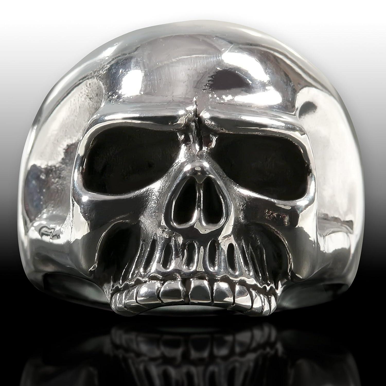 Totenkopf Ring Edelstahl Keith Richards Herren Biker Rocker Schmuck Skull