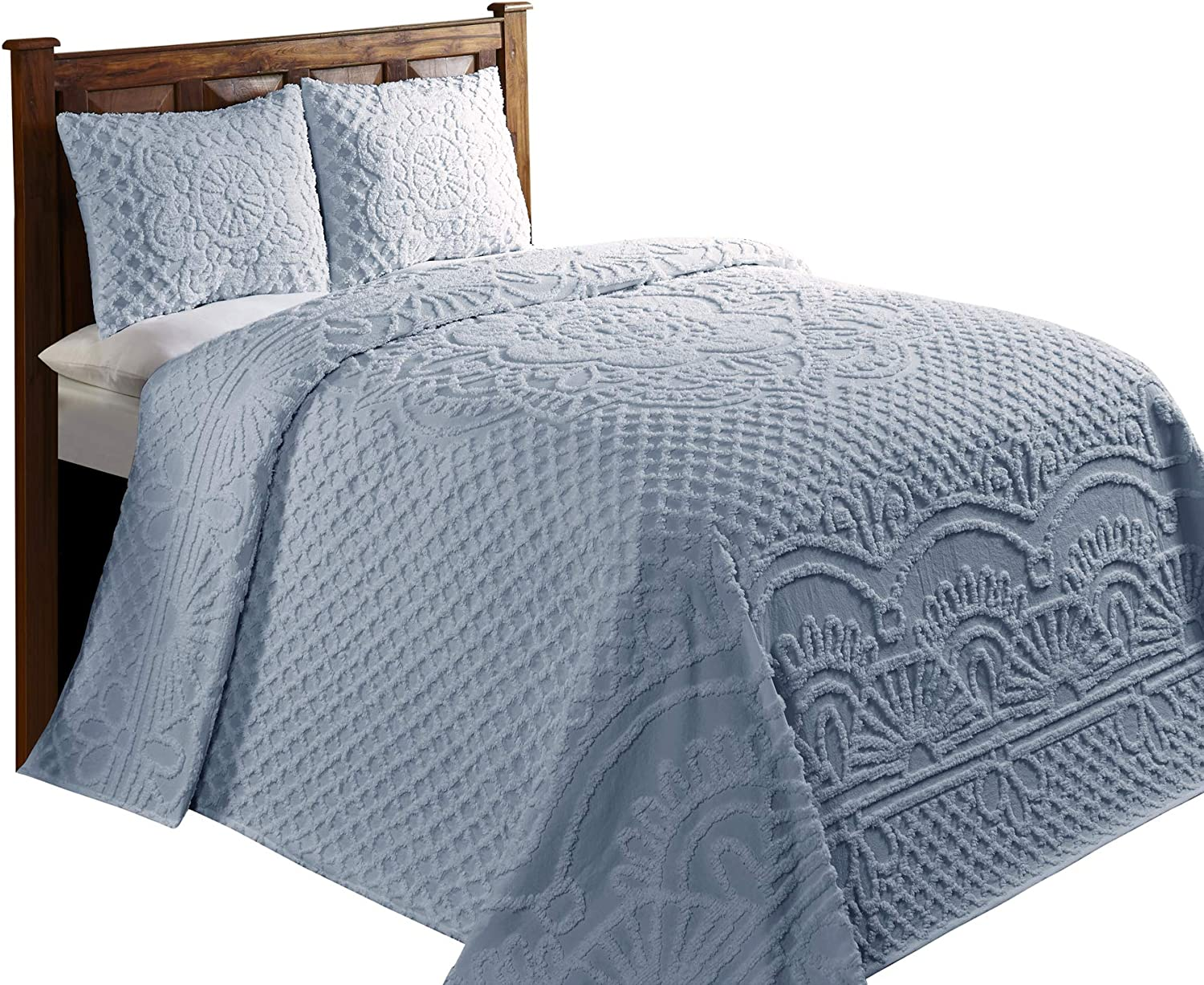 120 x 110//King Blue Better Trends//Pan Overseas BSTRKIBL Trevor Bedspread