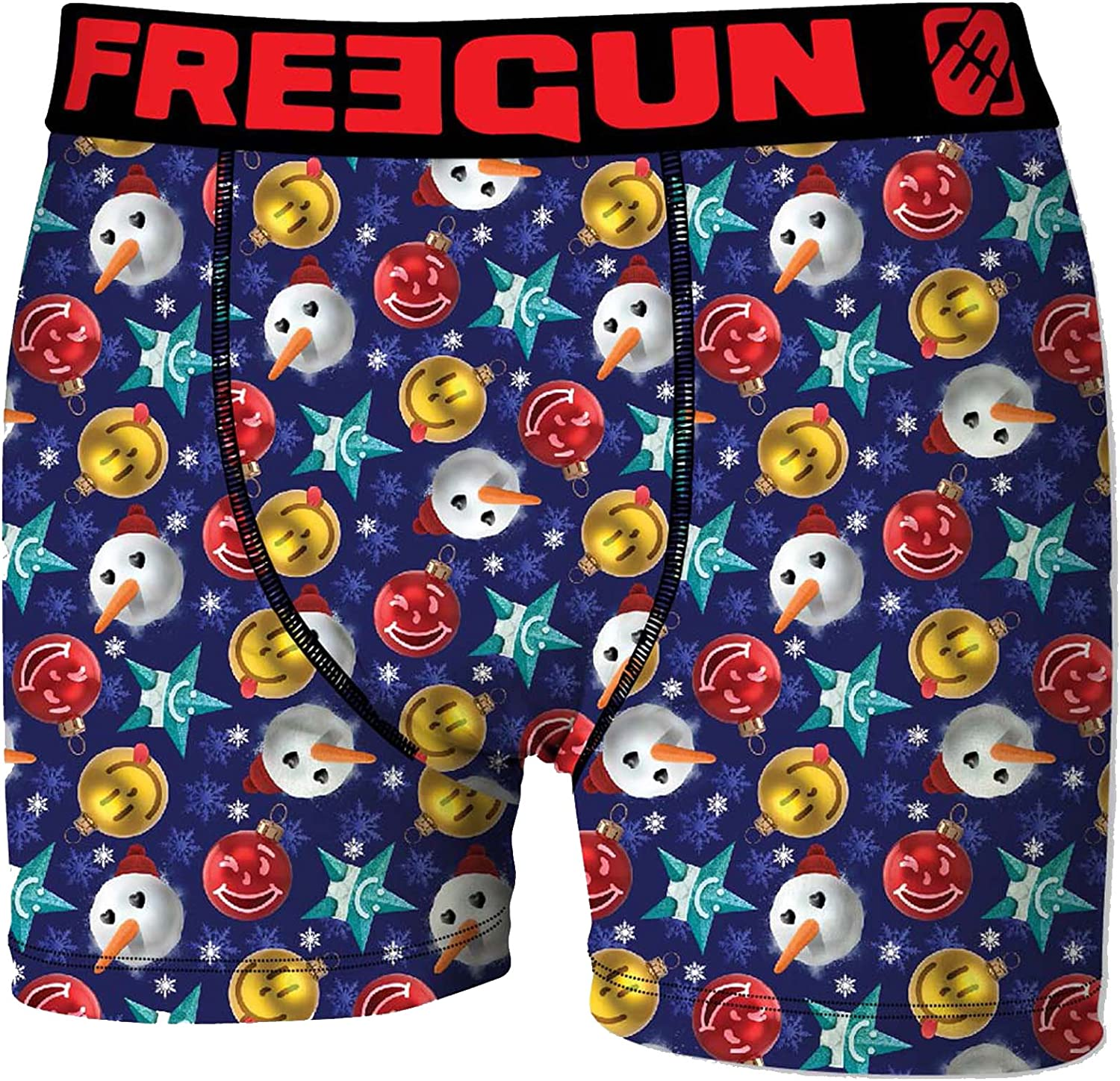 Assortment Models Photos According to Arrivals Boxer Merry Christmas for Mens in Microfiber FREEGUN
