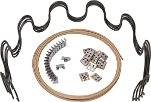 "House2Home 31"" Sofa Upholstery Spring Replacement Kit- 4pk Springs, Clips, Wire for Furniture Chair Couch Repair, Includes Instructions"