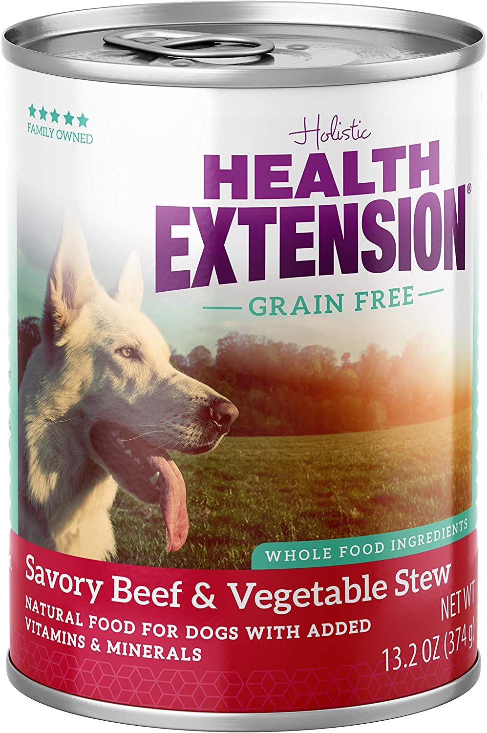 Health Extension Grain Free Savory Beef Stew Canned Wet Dog Food - (12) 13.2 Oz Cans