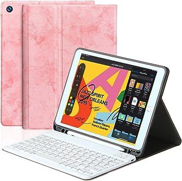 BLIENCE Nuevo Funda con teclado para iPad 10.2