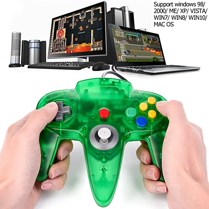 Classic N64 Game Controller suily Wired USB Gamepad Joystick