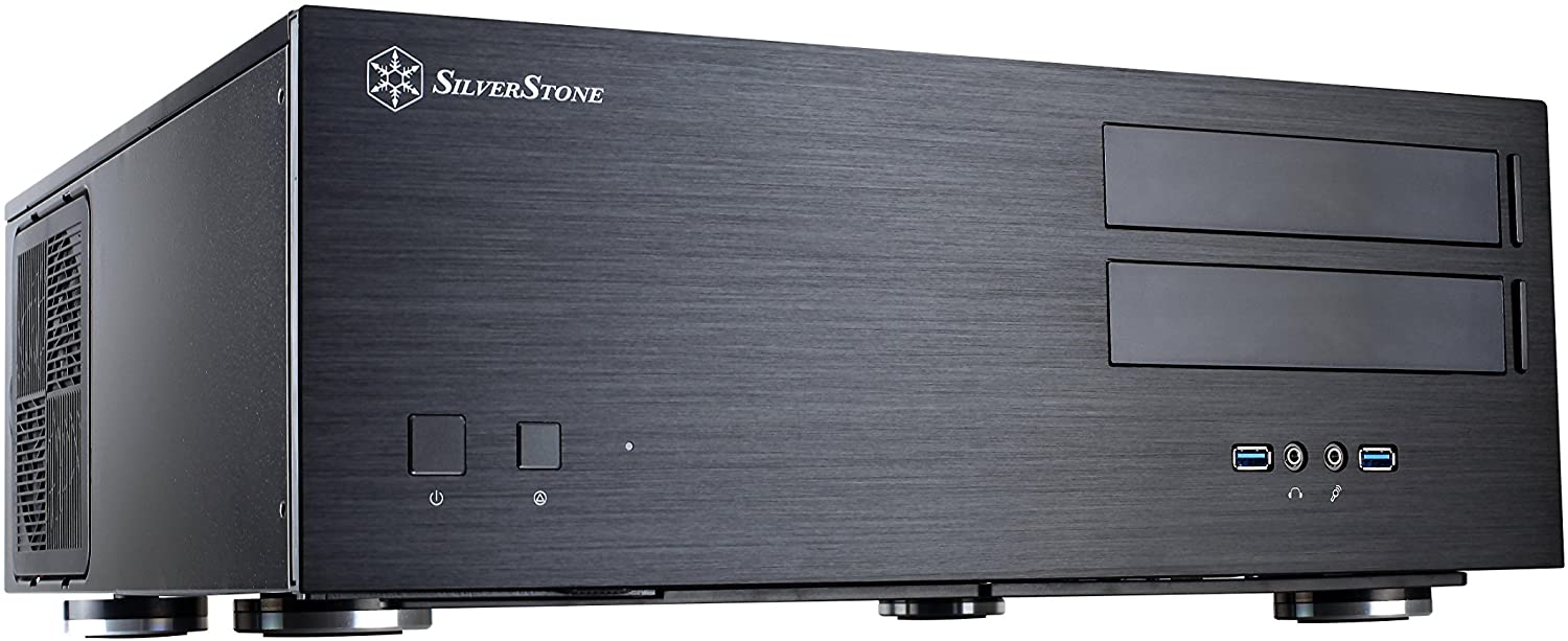 SilverStone Technology SST-GD08B-USA Home Theater Computer Case with Aluminum Front Panel for E-ATX/ATX/Micro-ATX Motherboards GD08B-USA