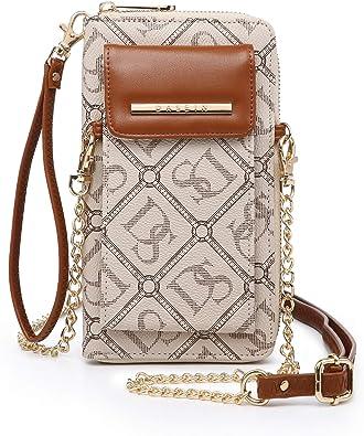 Womens Phone Bag PU Leather Crossbody Zipper Purse Wallets Pouch Shoulder Bag
