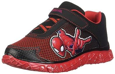 8b04245010c73 Marvel Entertainment LLC Spider-Man Black Red Boys  Spiderman Runner 1  Regular