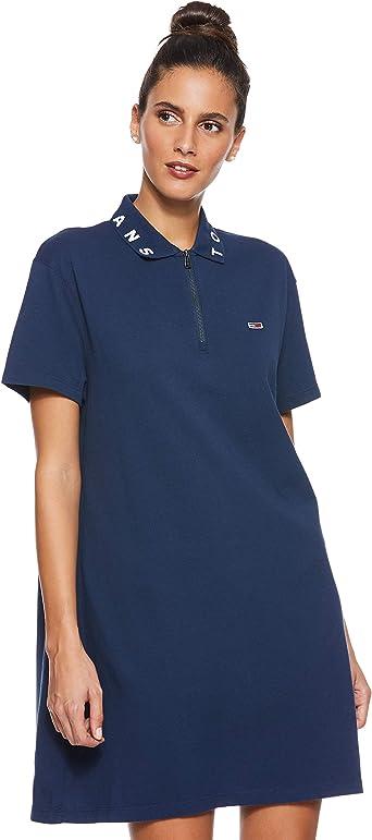 Tommy Hilfiger Collar Detail Polo vestido, Azul (Black Iris 002 ...