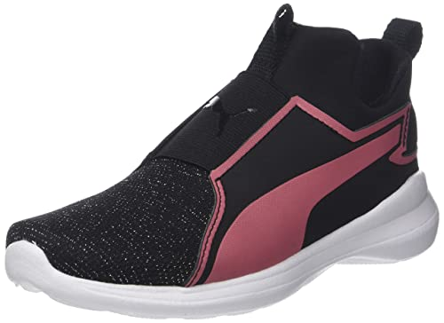 Puma Rebel Mid Gleam Jr, Sneaker a Collo Alto Unisex-Bambini, Nero (Black-Rapture Rose), 36 EU