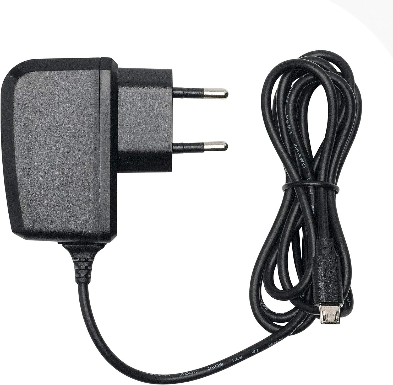 Slabo Cargador Red Micro USB - 1000mA - para Xiaomi Redmi 4X | 5 | 5 Plus | Note 5 | Note 6 Pro Cargador rápido de Viaje para el móvil - Negro
