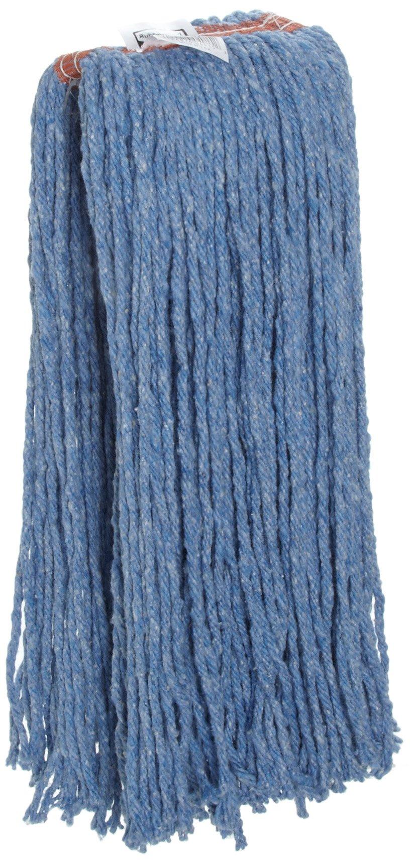 Rubbermaid Commercial Cut End Wet Mop Head, Blue (FGF51700BL00)
