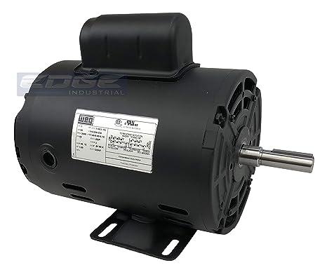 New WEG 1.5HP Electric Motor Fan Pump Compressor General purpose 56 Weg V Single Phase Motors Wiring Diagram on