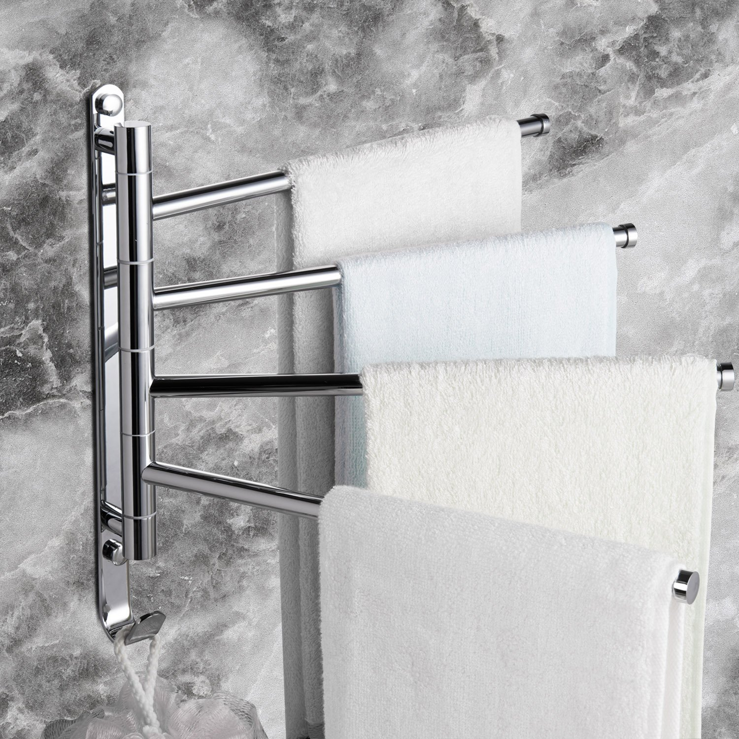 Where To Put Towel Bars In Bathroom: Sprinkle Contemporary Modern Chrome Finish Towel Bar Set