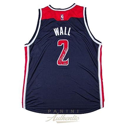 best cheap 65030 2c95e John Wall Autographed Jersey - Adidas Navy Swingman ~Open ...