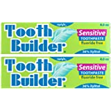 Squigle Tooth Builder Toothpaste (Stops Tooth Sensitivity. Prevents Canker Sores, Mouth Ulcers, Bad Breath,Chapped Lips, Perioral Dermatitis. Soothes and Protects Dry Mouths. No SLS.) - 2 Pack