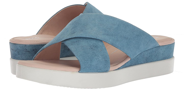 ECCO Women's Touch Plateau Platform M Slide Sandal B074CW1Z38 35 M Platform EU (4-4.5 US)|Indigo 9c5c60