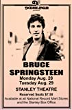 Bruce Springsteen Live at Stanley Theatre Retro Art Print — Poster Size — Print of Retro Concert Poster — Features Bruce Springsteen, Roy Bittan, Clarence Clemons, Danny Federici, Garry Tallent, Steven Van Zandt and Max Weinberg.