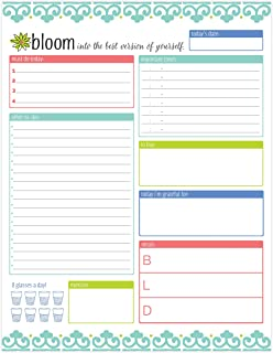 amazon com bloom daily planners work life balance planning pad