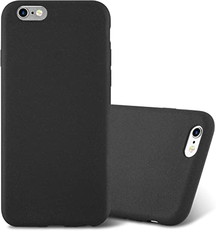 Cadorabo Custodia per Apple iPhone 6 Plus/iPhone 6S Plus in Frost Nero - Morbida Cover Protettiva Sottile di Silicone TPU con Bordo Protezione - Ultra ...