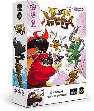 TCG Factory Academia Ninja Juego de Mesa en español, para familias, niños y reuniones con Amigos. Divertido Juego de Habilidad, destreza y faroleo... ¡ con Ninjas!: Amazon.es: Juguetes y juegos