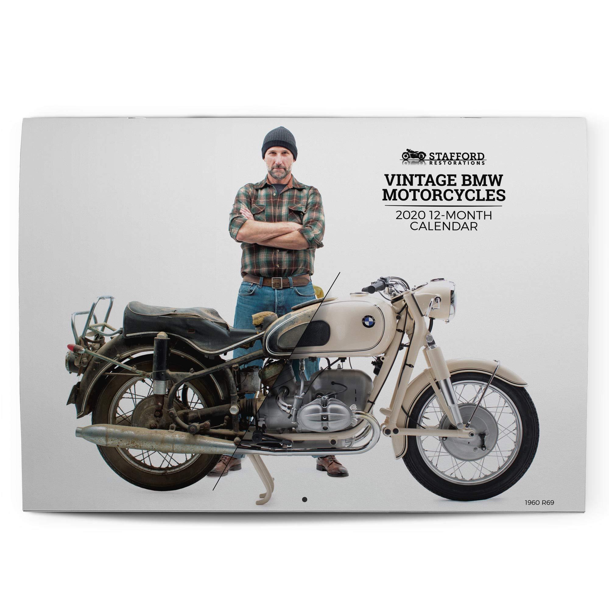 Vintage Bmw Motorcycles 2020 12 Month Wall Calendar Tim Stafford Stafford Restorations Amazon Com Books