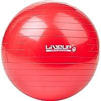Bola Suiça S, 45 cm, Vermelha, LiveUp