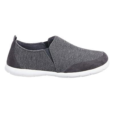 isotoner Zenz Men's Activate Heather Knit Close Back Slipper, Slip-On Shoe | Slippers