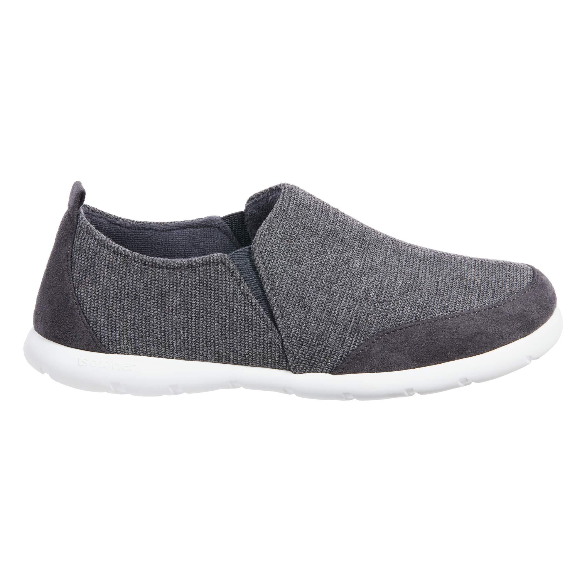ISOTONER Zenz Men's Sport Knit Slip-On Walking Shoe, 11US, Mineral