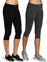 Amazon.com: ABUSA Women's Cotton Workout Tights Capri YOGA Pants ...