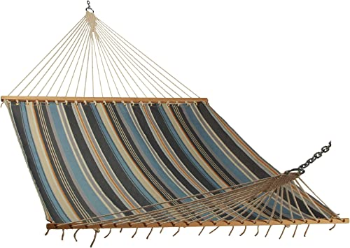 East Coast Hammocks Large Quick Dry Hammock – Mountain River Striped