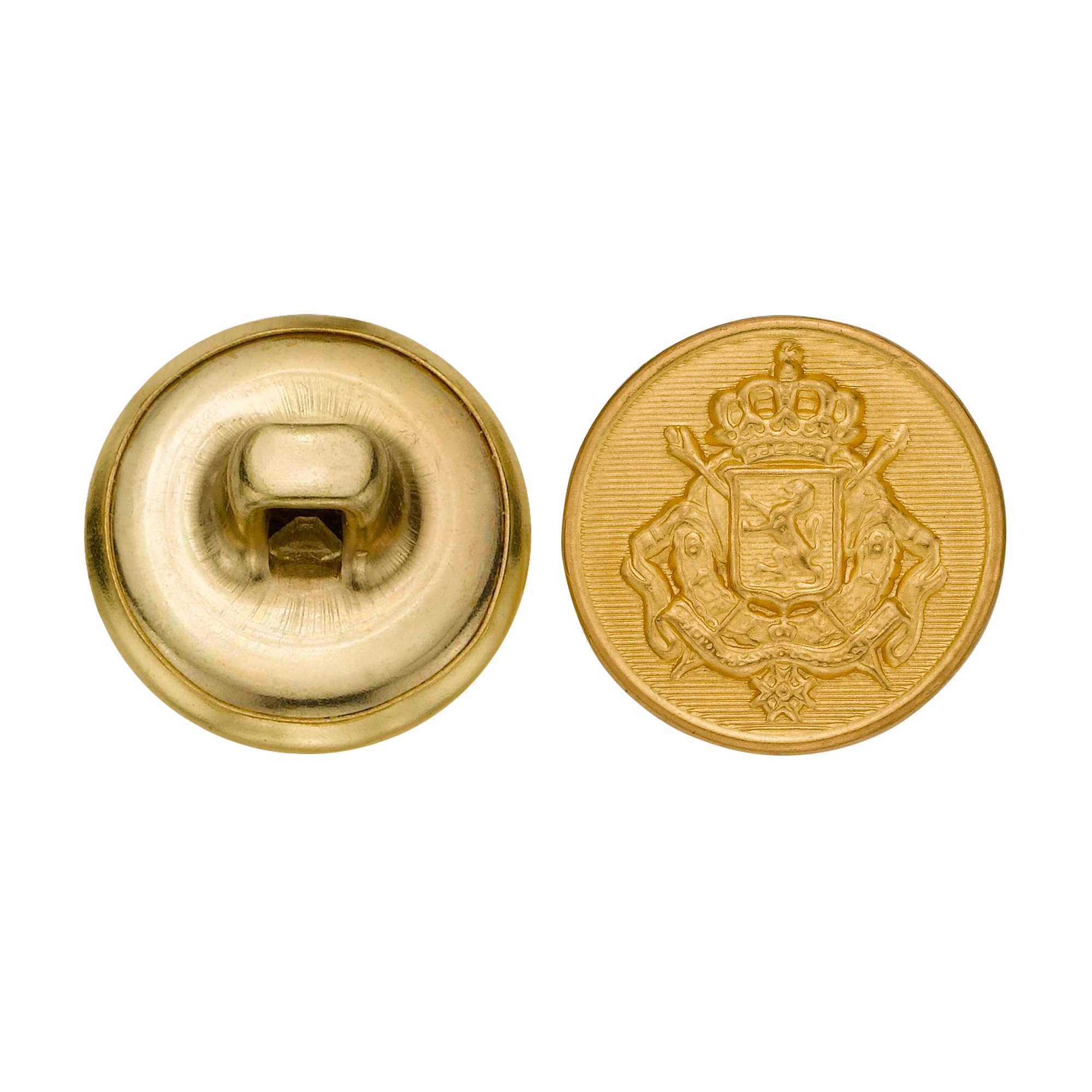 C&C Metal Products 5289 Royal Crest Metal Button, Size 24 Ligne, Gold, 72-Pack