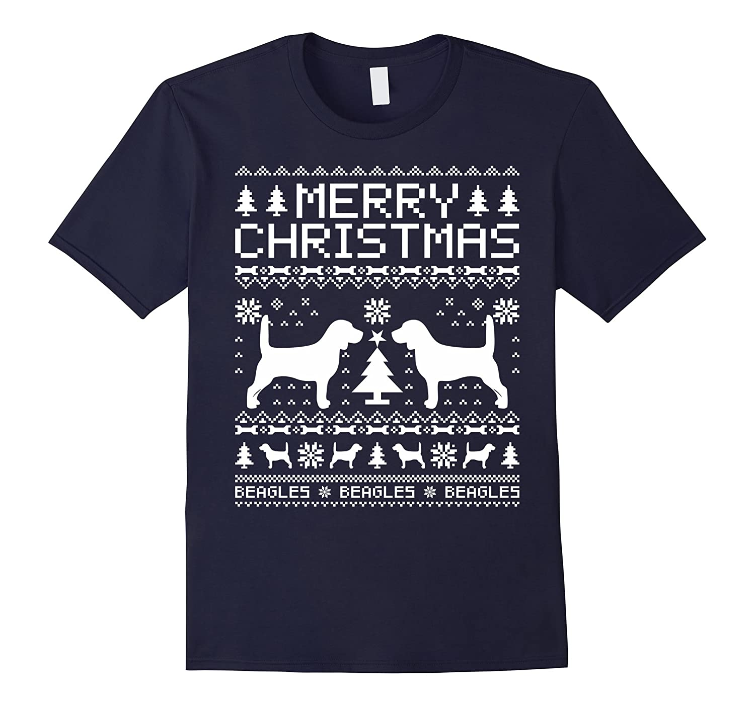 Beagles Dog Merry Christmas T-shirt-CL